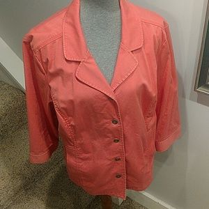 Chico's Cotton Peach Jacket Size 3